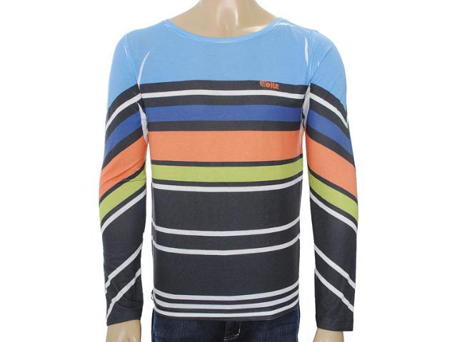 Camiseta Masculina Coca-cola Clothing 353203398 Azul/laranja/verde/musgo