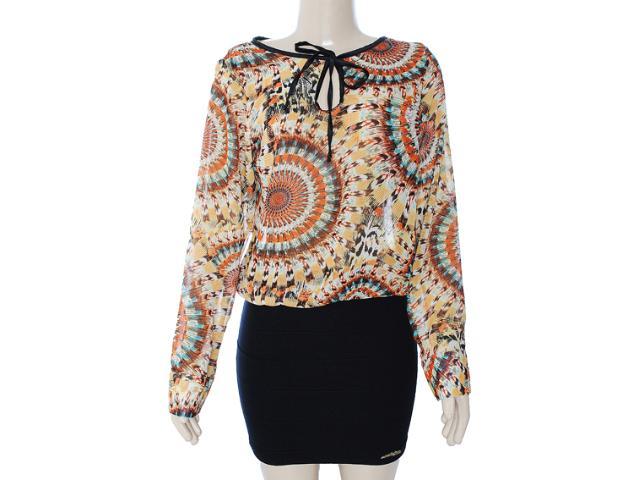Vestido Feminino Meia Loka 3136 Estampado/preto