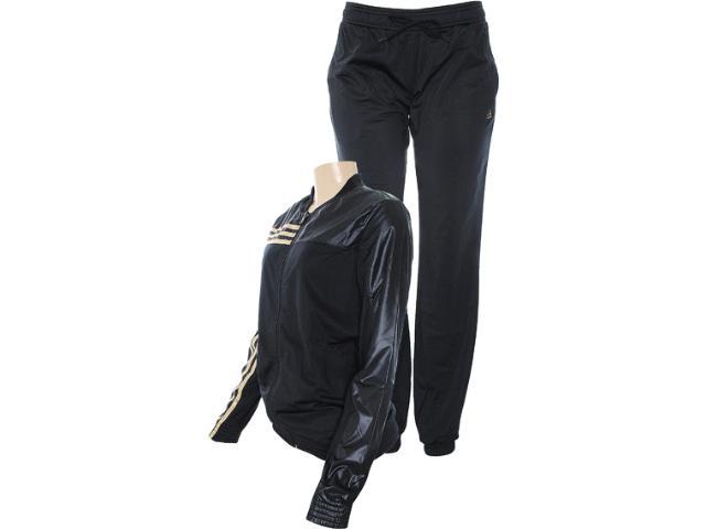 Abrigo Feminino Adidas Z29610 Yng Image Sui Preto/dourado