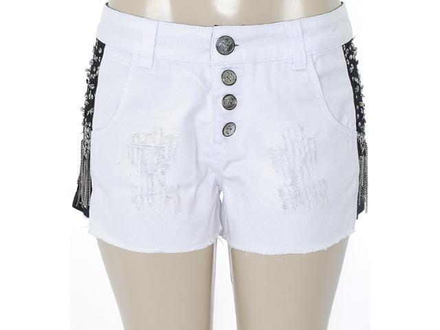 Short Feminino Lado Avesso 82183 Branco/preto