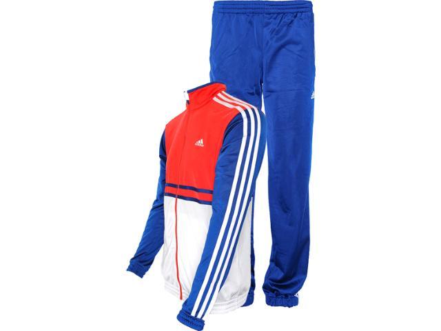 Abrigo Masculino Adidas Z32749 ts Bts kn oc Azul/branco/vermelho