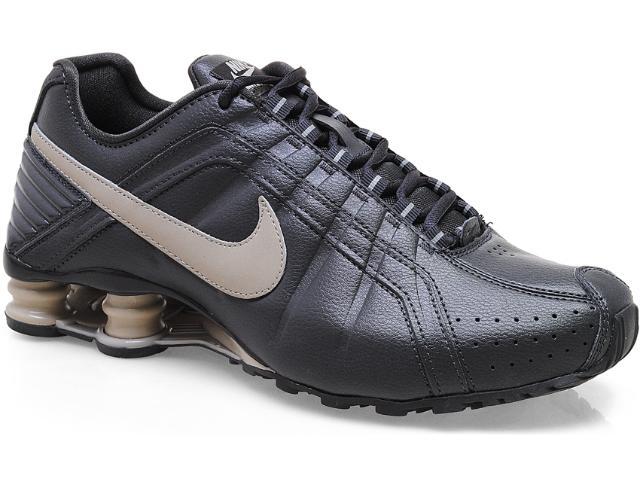 Tênis Masculino Nike 454340-003 Shox Junior Chumbo/bege