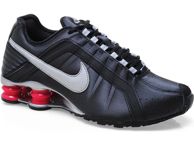 Tênis Feminino Nike 454339-003 Shox Junior Preto/pink