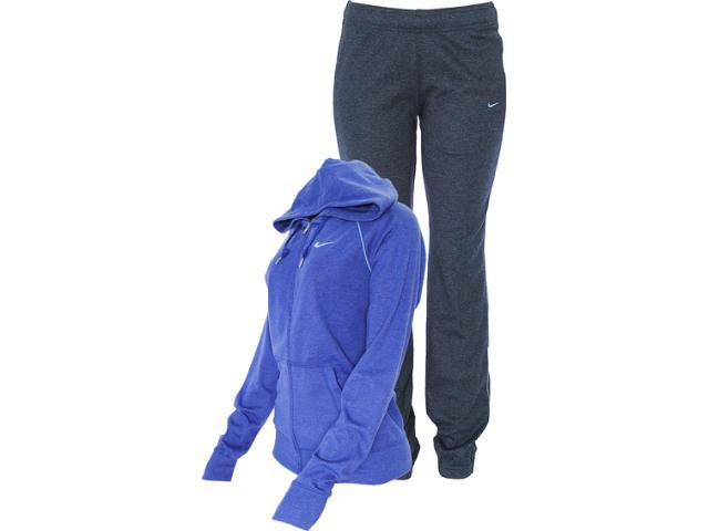 Abrigo Feminino Nike 521879-487 Classic Jersey Com Capuz Roxo/chumbo