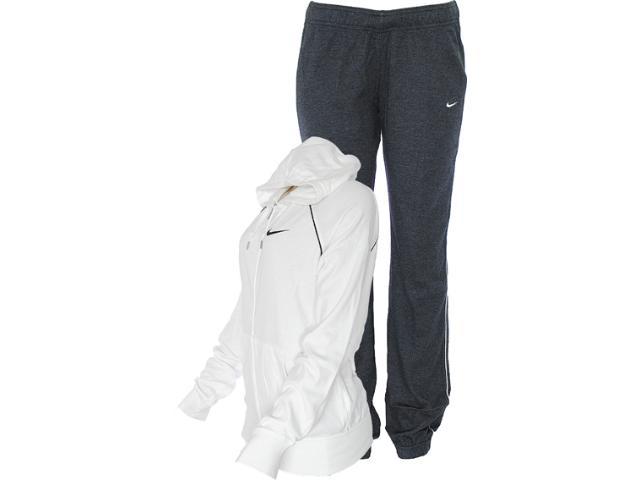 Abrigo Feminino Nike 521879-140 Classic Jersey Com Capuz Branco/chumbo
