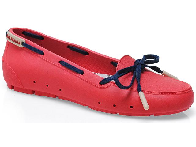 Sapato Feminino Soft Mania 905 Vermelho/marinho