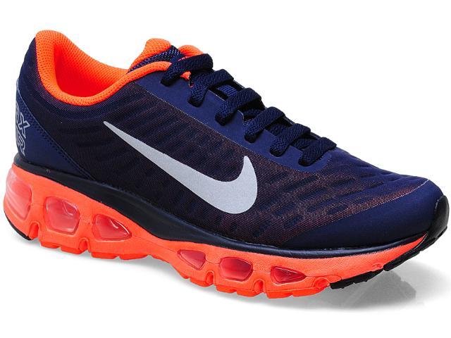 Tênis Feminino Nike 555415-408 Air Max t Tailwind + 5 Marinho/laranja Neon