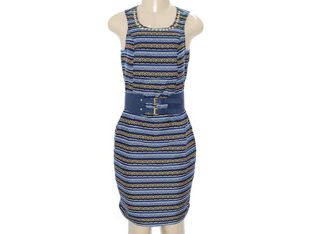 Vestido Feminino Dopping 018033009 Estampado Azul