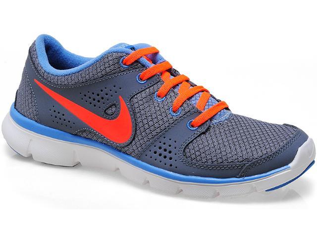 Tênis Feminino 525754-014 Wmns Nike Flex Experience Cinza/laranja/azul