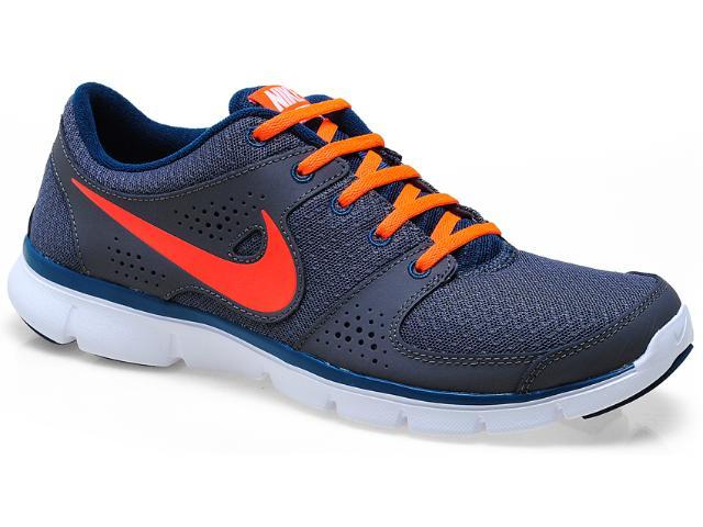 Tênis Masculino Nike 525762-016 Flex Experience r Chumbo/laranja/verde
