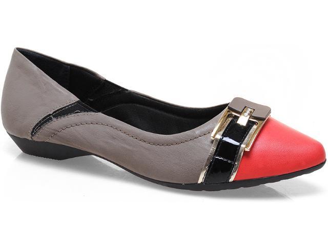 Sapato Feminino Piccadilly 254.045 Nozes/goiaba