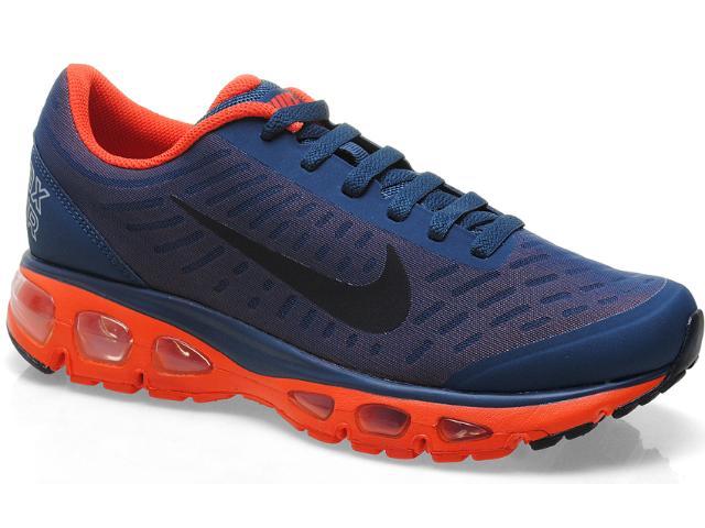 Tênis Masculino Nike 555416-408 Air Max Tailwind Marinho/laranja