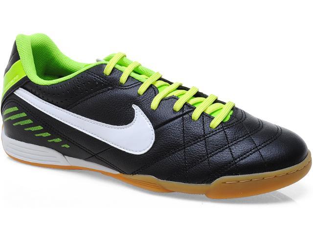 Tênis Masculino Nike 580900-013 Tiempo Natural iv Lthr ic Preto/limão/branco