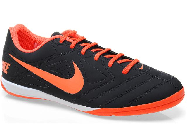 Tênis Masculino Nike 502776-004 Beco Preto/laranja Neon
