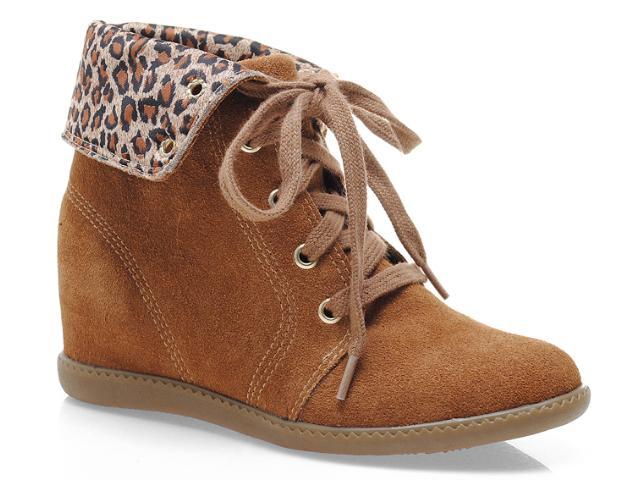 Sneaker Feminino Anna Brenner 3003 Canela