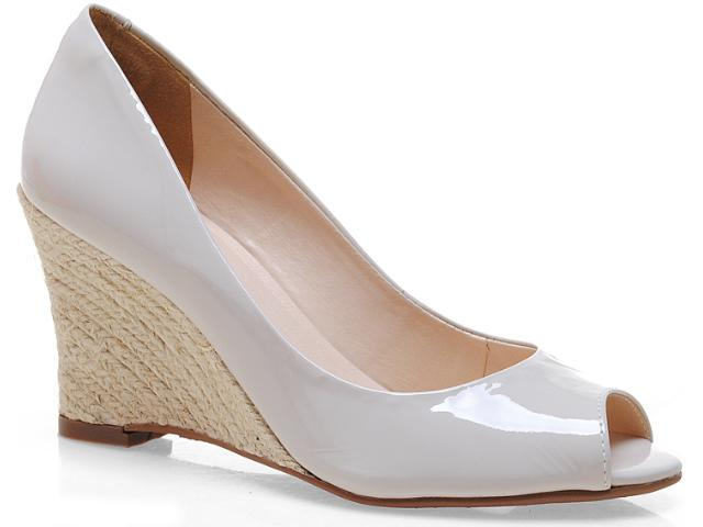 Peep Toe Feminino Via Marte 12-13308 Off White