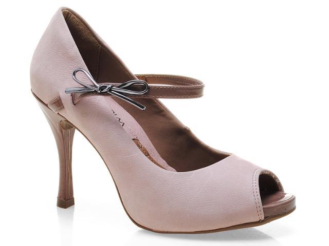 Peep Toe Feminino Ramarim 13-97104 Nude/amendoa/rose