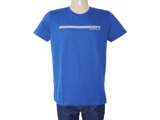 Camiseta Masculina Coca-cola Clothing 353203382 Azul Bic