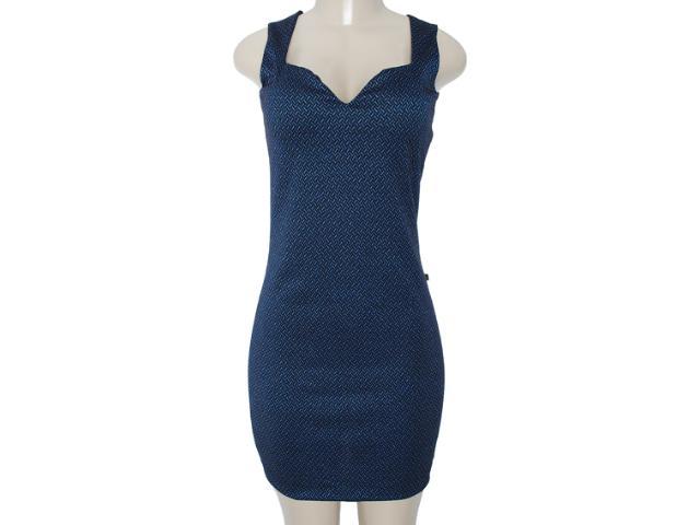 Vestido Feminino Meia Loka 3149 Preto/azul
