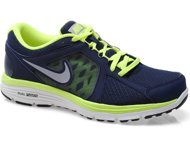 Tênis Masculino Nike 525761-401 Dual Fusion Run Msl  Marinho/verde
