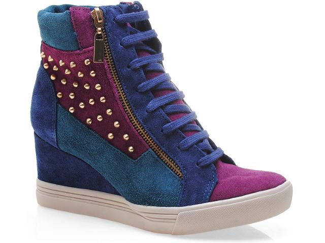 Sneaker Feminino Via Marte 13-3906 Marinho/purpura/petróleo