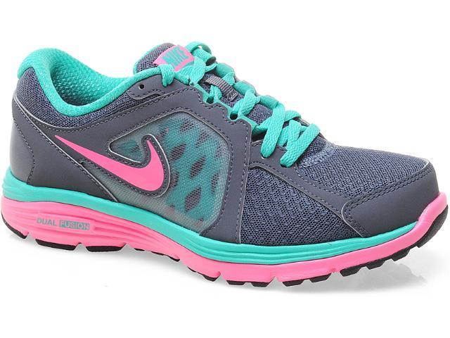 Tênis Feminino Nike 525753-010 Dual Fusion Rum Msl Chumbo/verde/rosa