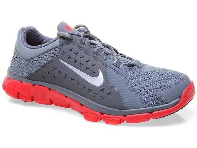 Tênis Masculino Nike 525730-008 Flex Supreme tr Cinza/vermelho