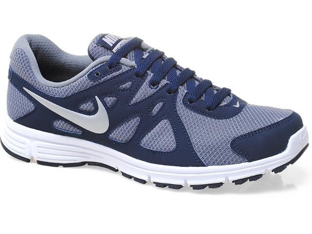 Tênis Masculino Nike 554954-007 Revolution 2 Msl Cinza/marinho