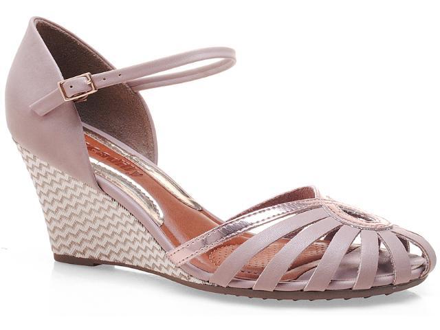 Sapato Feminino Piccadilly 708.001 Nude/ouro Rosado
