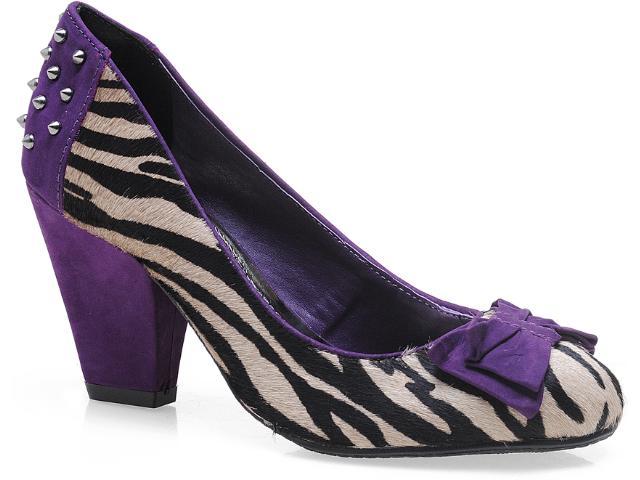 Sapato Feminino Via Marte 13-3005 Zebra/roxo