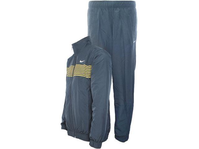 Abrigo Masculino Nike 449940-061a Classic Taffeta  Chumbo/amarelo