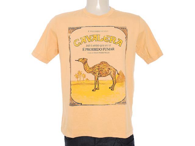 Camiseta Masculina Cavalera Clothing 01.01.7060 Amarelo Queimado