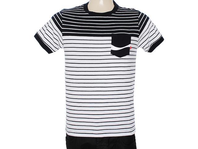 Camiseta Masculina Coca-cola Clothing 353203329 Preto/branco