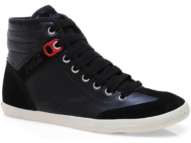 Tênis Feminino Coca-cola Shoes Cc0288 Preto
