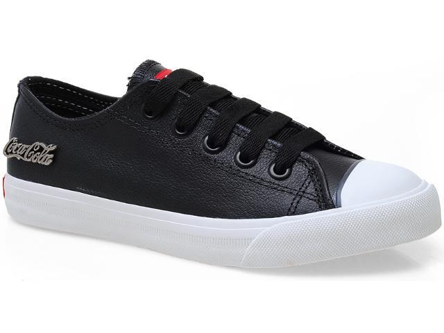 Tênis Feminino Coca-cola Shoes Cc0063 Preto