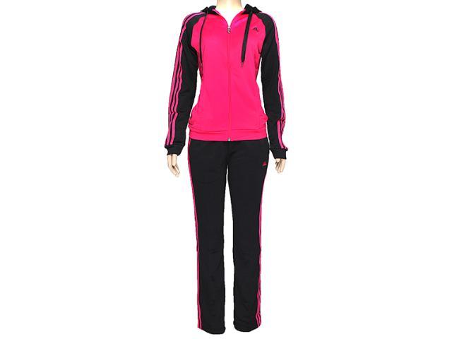 Abrigo Feminino Adidas F49378 Young Knit Pink/preto