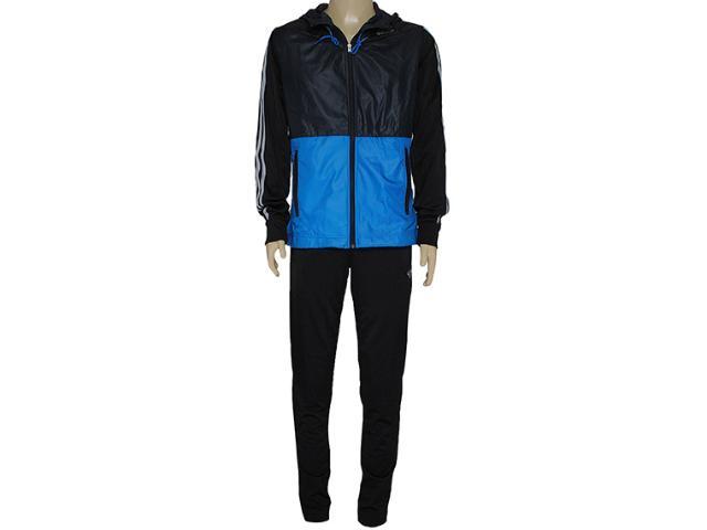 Abrigo Masculino Adidas F49169 Young kn oc Chumbo/azul/preto