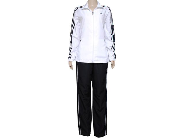 Abrigo Feminino Adidas X20406 Ess 3s Woven su  Branco/preto