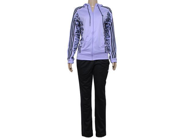 Abrigo Feminino Adidas S17703 Yong Knit Lilas/preto