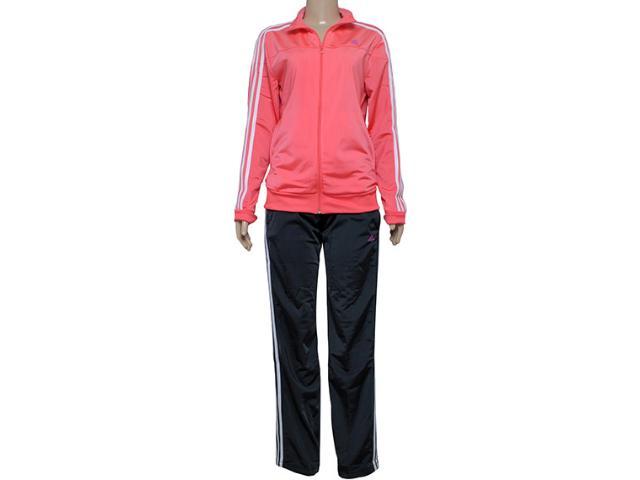 Abrigo Feminino Adidas S23594 Knit w Coral/chumbo
