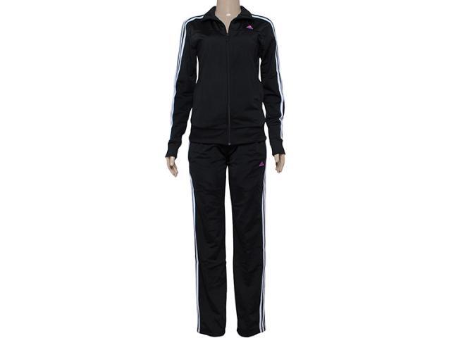 Abrigo Feminino Adidas S23596 Knit w Preto/branco