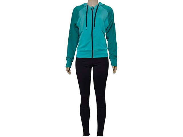 Abrigo Feminino Adidas Aj5962 Tighthoody Verde/preto
