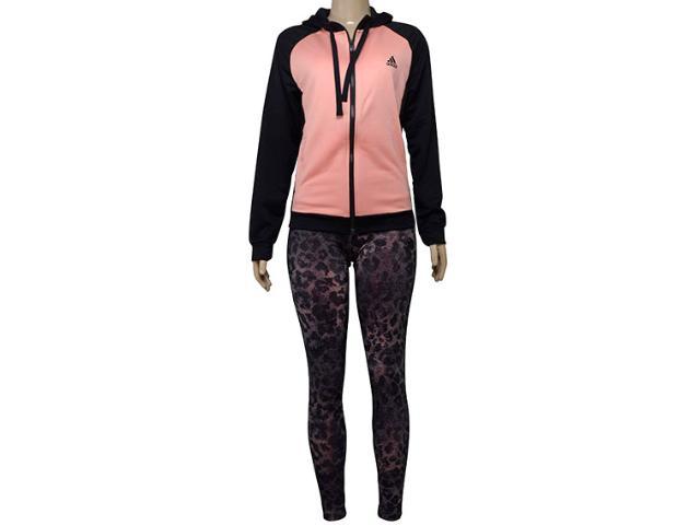 Abrigo Feminino Adidas Cd6378 Wts Hoody&tight Salmão/preto