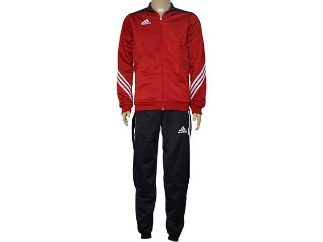 Abrigo Masculino Adidas D82934 Sere 14  Pes Suit Vermelho/preto