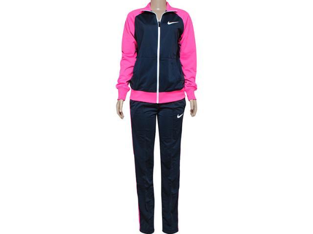 Abrigo Feminino Nike 639138-008 Polywarp Raglan Chumbo/rosa Neon