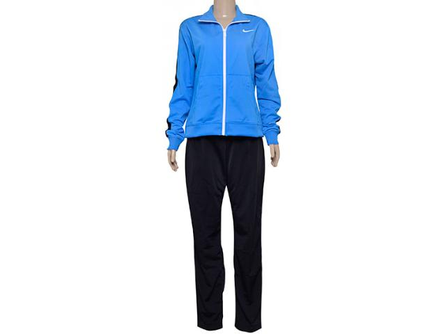 Abrigo Feminino Nike 683662-435 Poly Knit Azul/preto