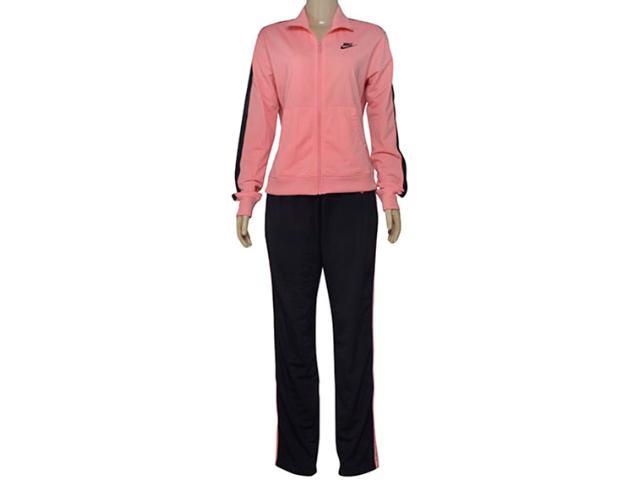 Abrigo Feminino Nike 830345-808 Sportswear Track Rosa/preto