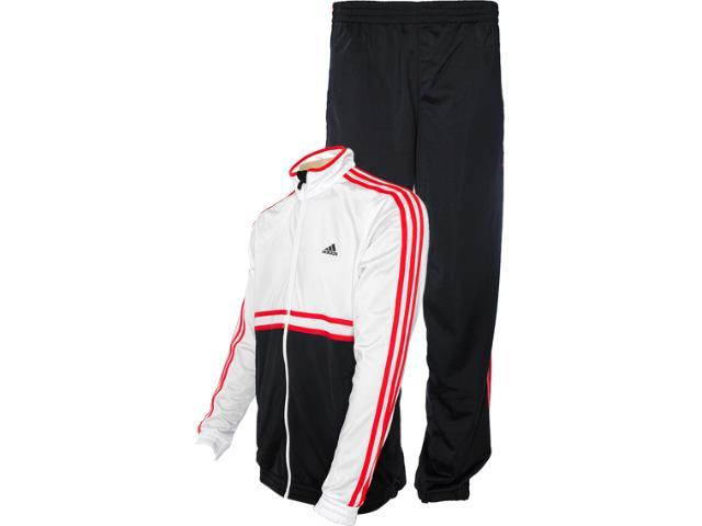 Abrigo Masculino Adidas Z32740 ts Bts jn oc Preto/branco/vermelho