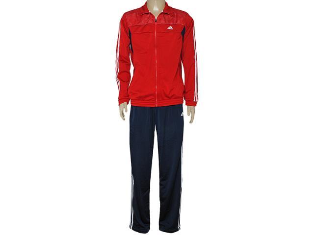Abrigo Masculino Adidas D89265 Train Knit Vermelho/marinho