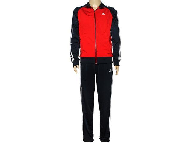Abrigo Masculino Adidas F80907 Riberio Vermelho/chumbo